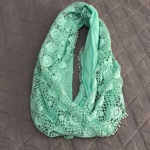 Justice Accessories - Justice Mint Green Lace Infinity Scarf